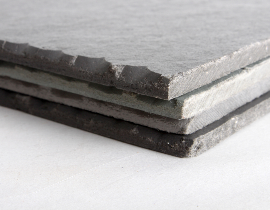 School of architecture materials lab for Fiber cement composite roofing slate style